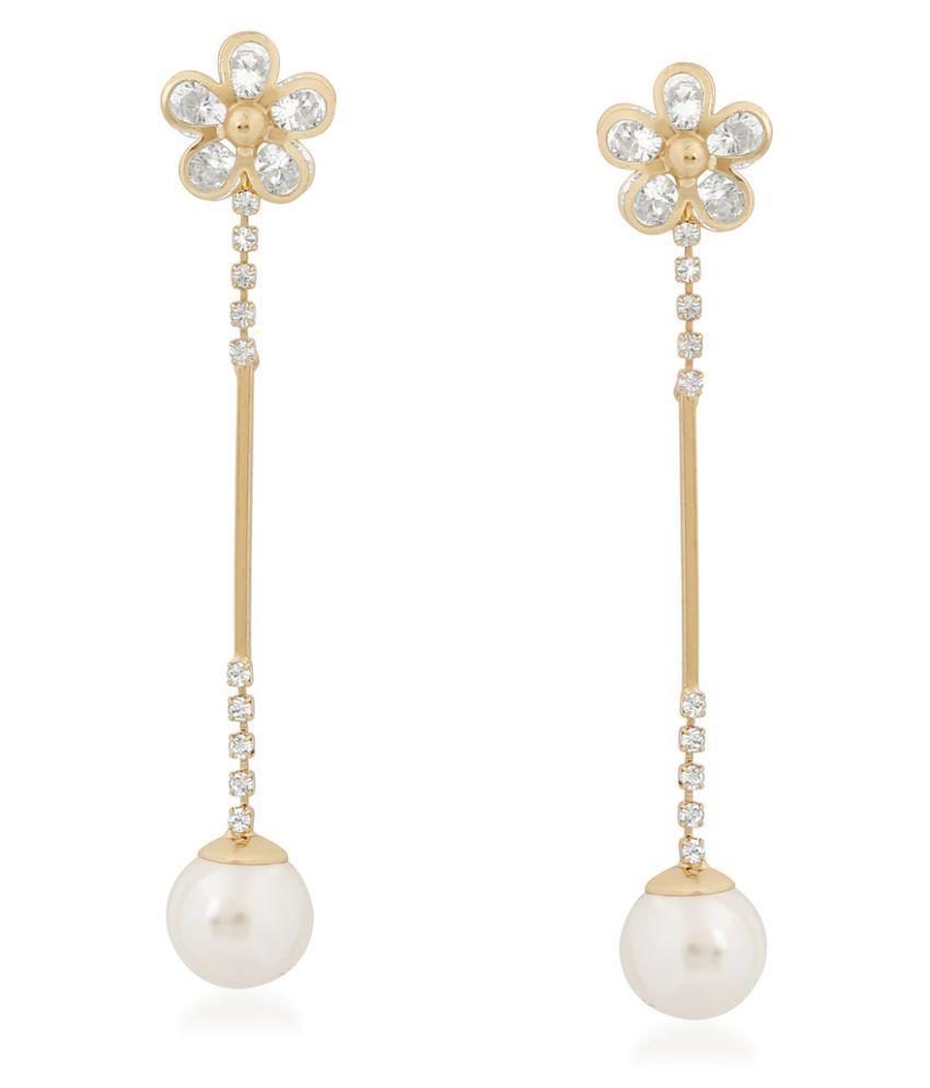 VK Jewels Golden Drop Earrings