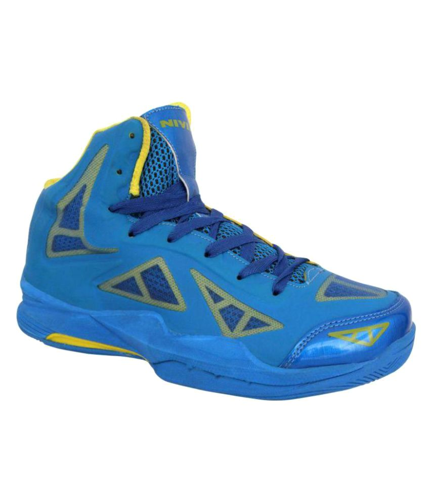 5d6da8309410 Nivia Typhoon Basketball Shoes Midankle Male Blue-495411  Buy Online at  Best Price on Snapdeal