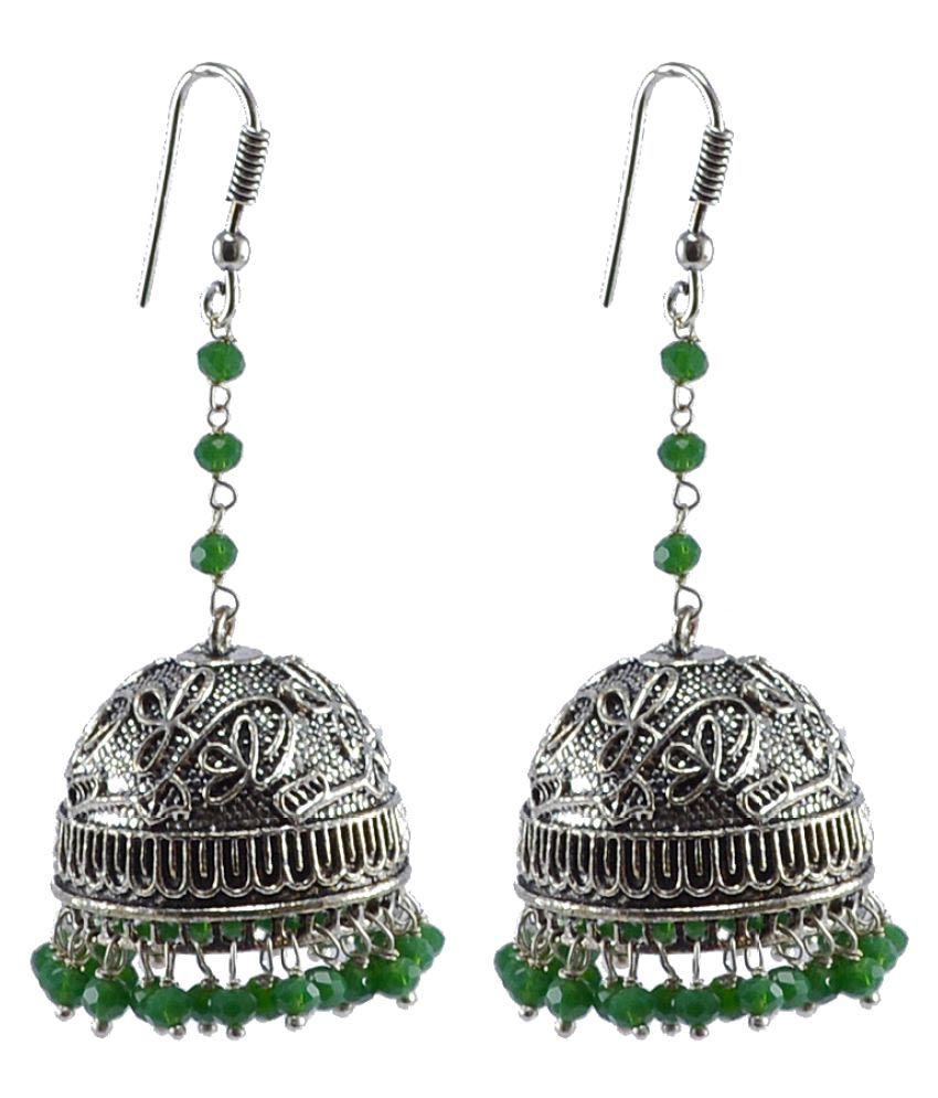 Silvesto India Silver Plated Jhumkis