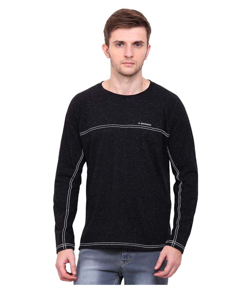 Le Bourgeois Black Round T-Shirt
