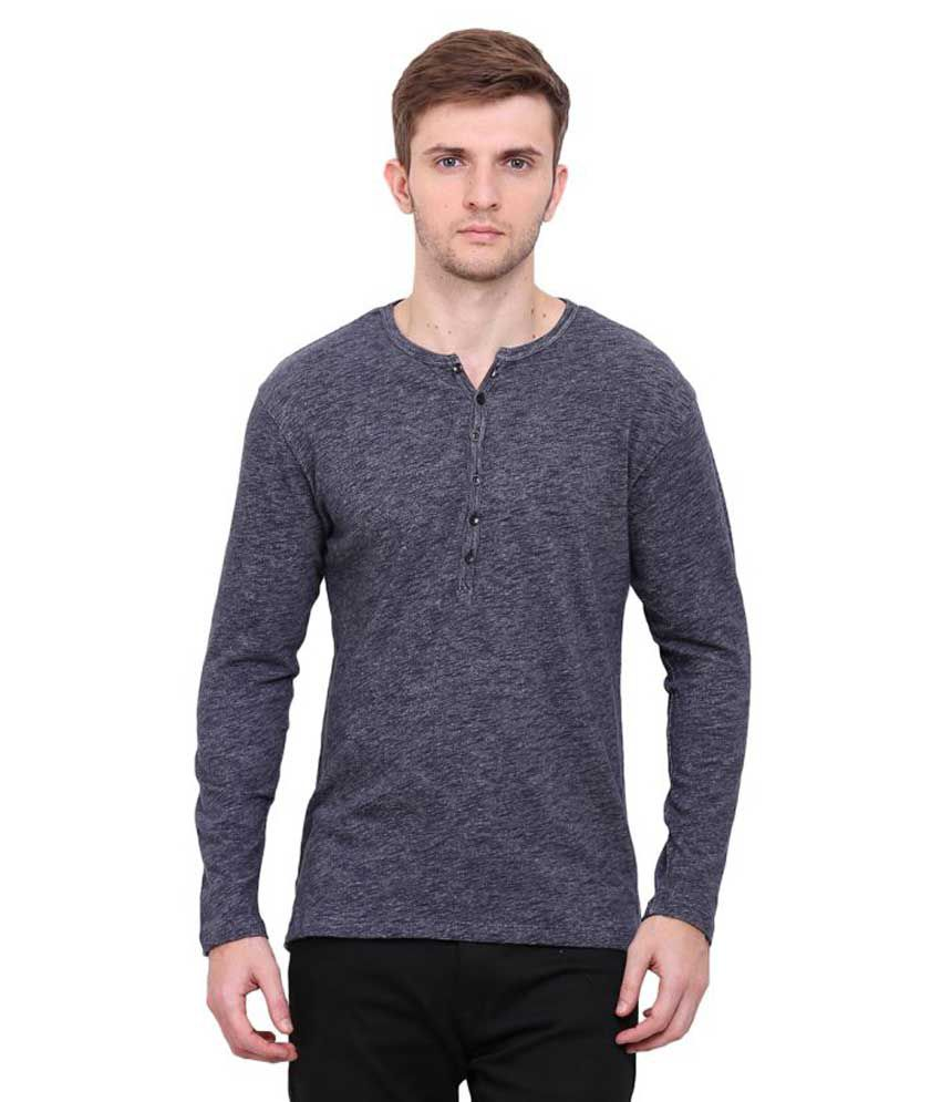 Le Bourgeois Blue Henley T-Shirt