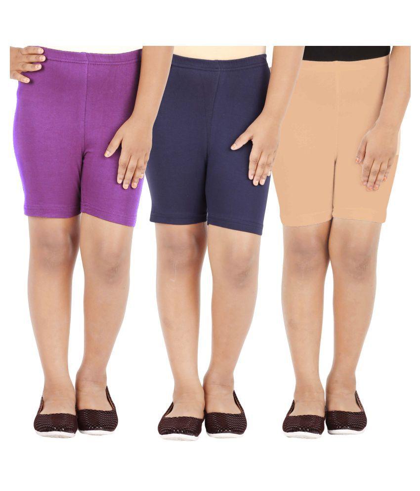 Lula Girl's Shorts - Pack Of 3