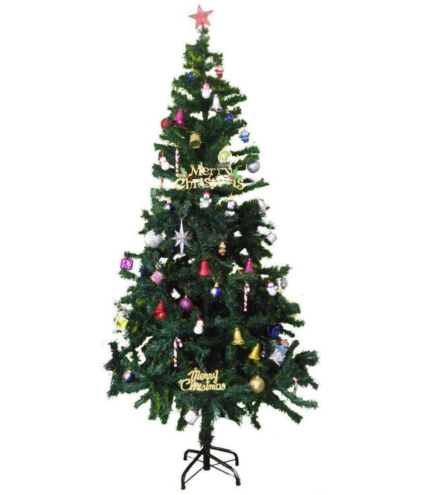 Bandekar Plastic Christmas Tree Green-4 Ft- (Pack of 1): Buy ...