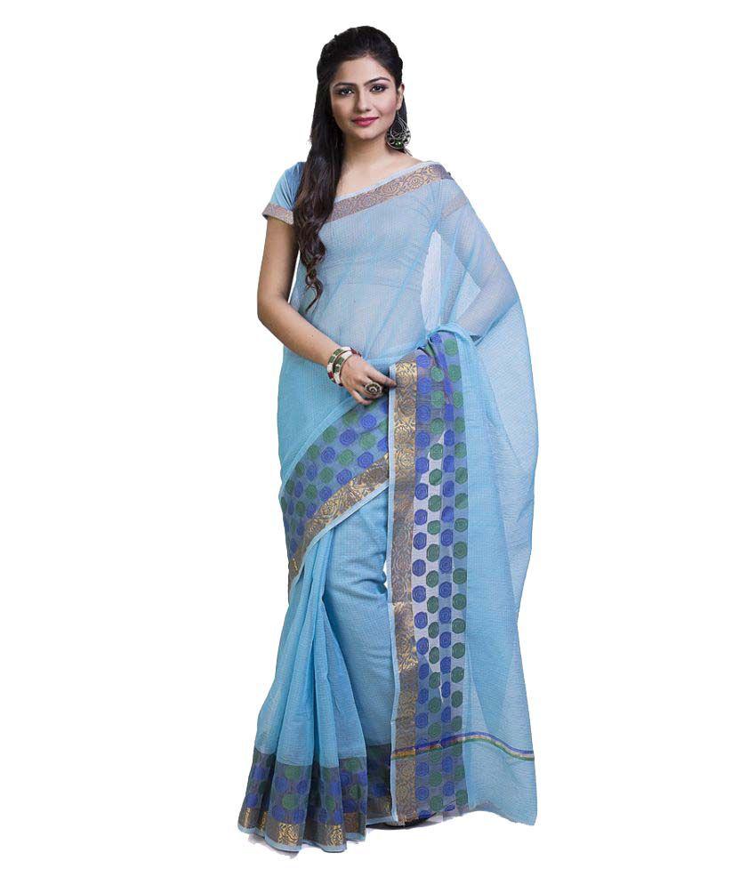 Rajnandini Blue Silk Saree