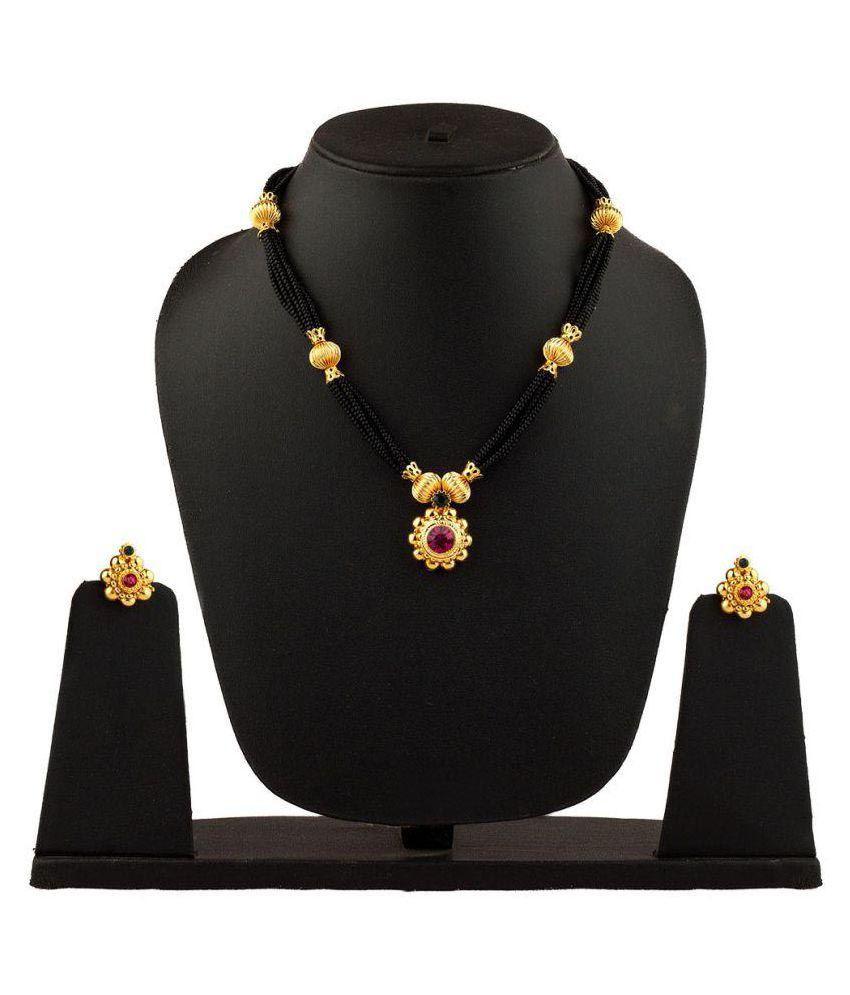 Womens Trendz Golden Alloy Necklaces Set
