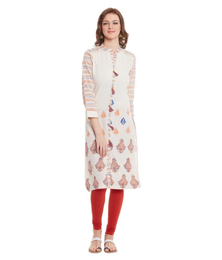 Yepme Multicoloured Cotton Straight Kurti