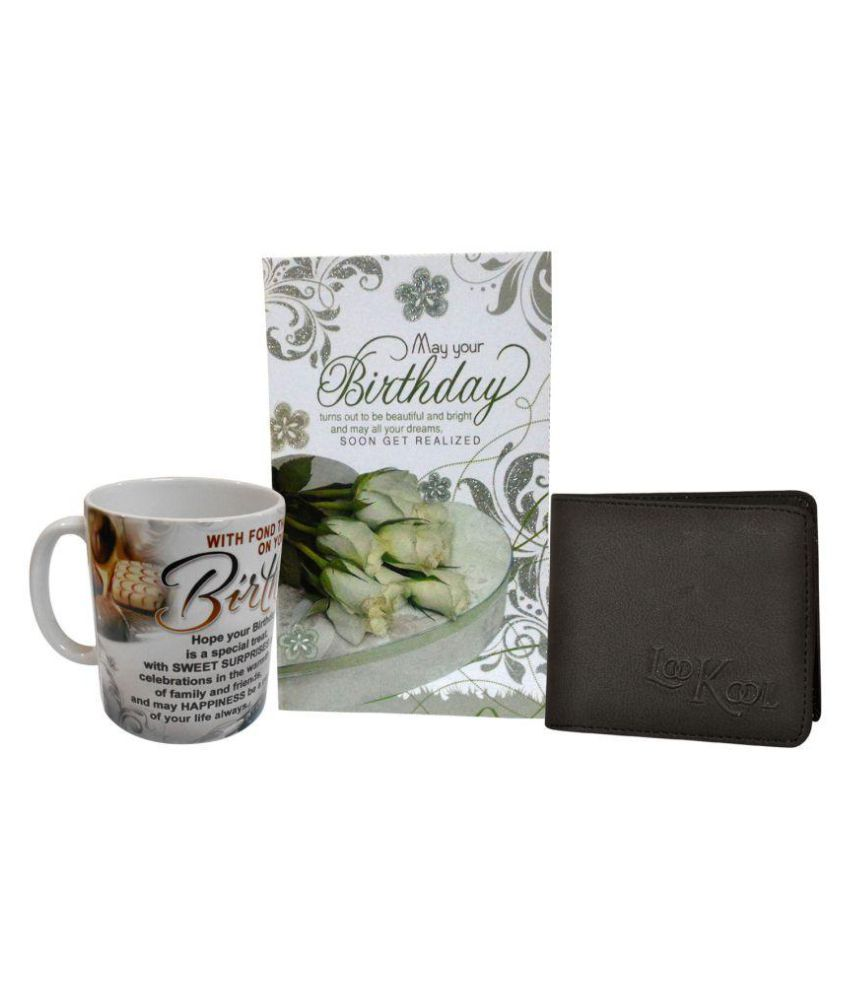 Birthday Gift For Men Boys Leather Mens Wallet Coffee Mug