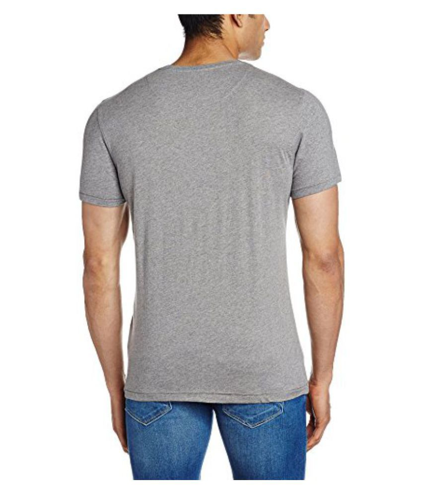 Indian Terrain Grey Henley T-Shirt