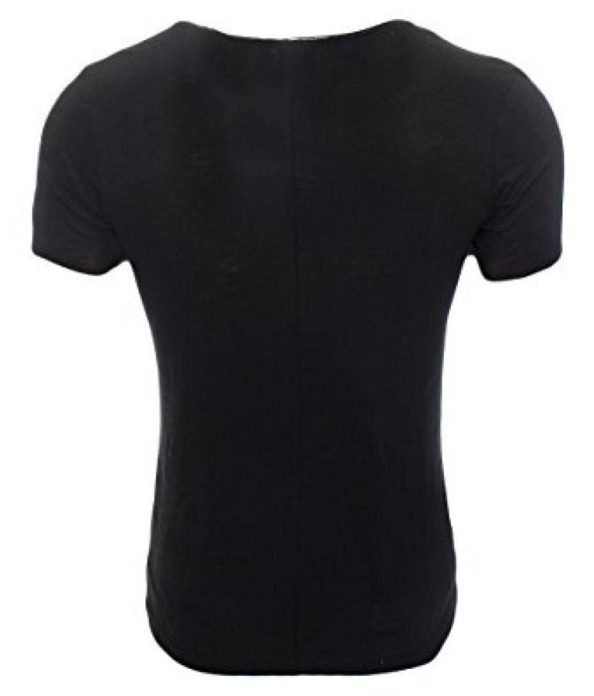 Jack & Jones Black Round T-Shirt