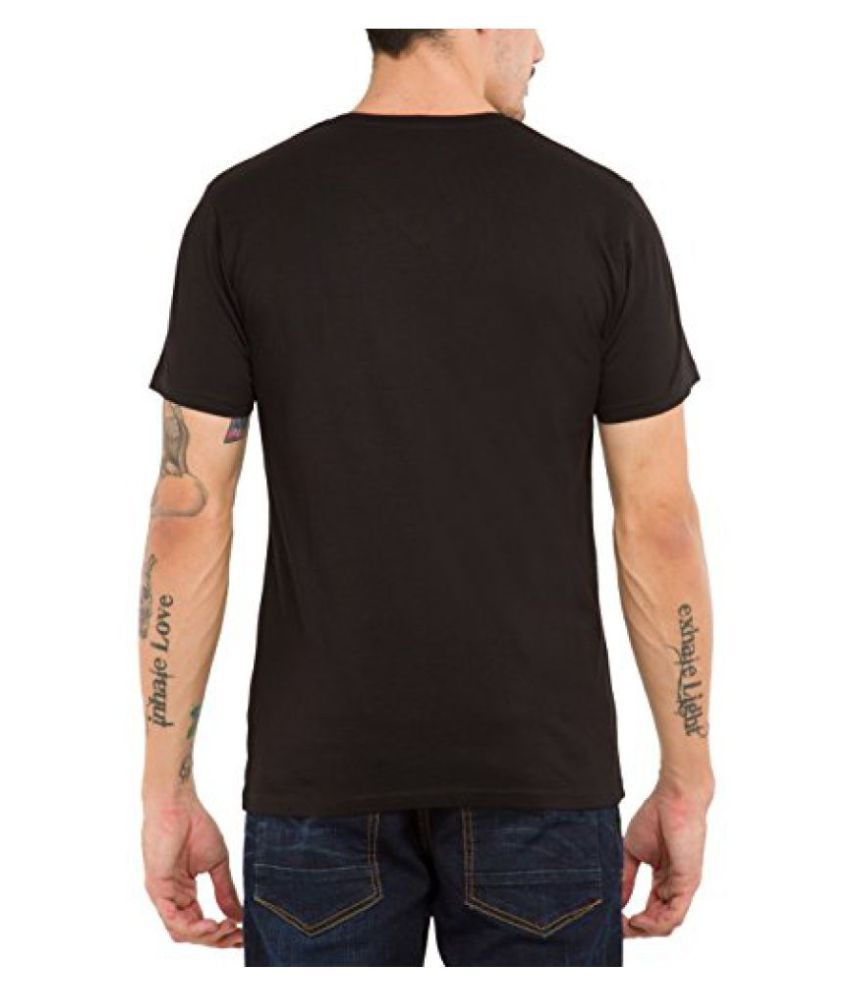 Locomotive Black V-Neck T-Shirt