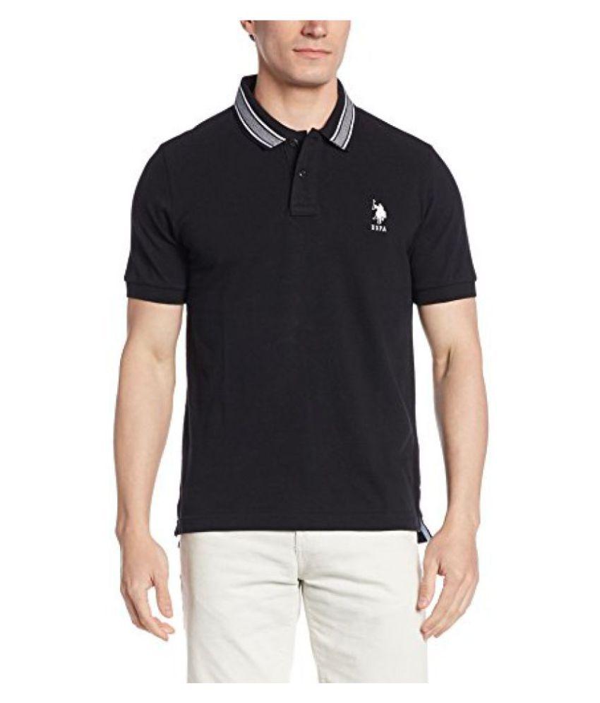 U.S. Polo Assn. Black Henley T-Shirt