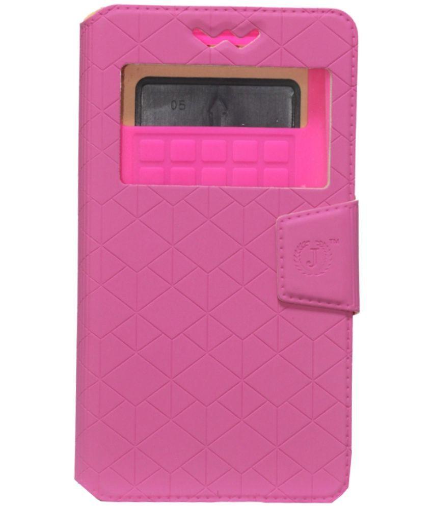 Lenovo K5 Note Flip Cover by Jojo - Pink