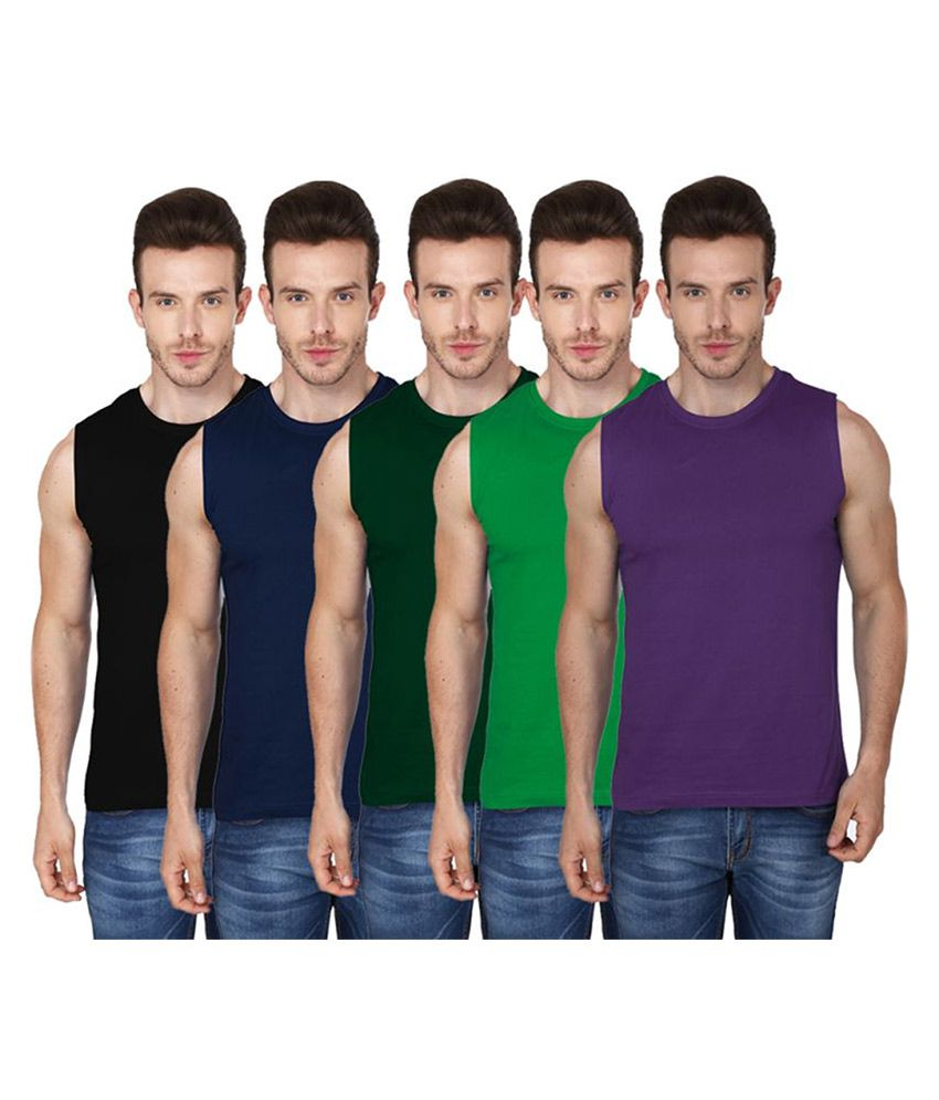 99tshirts Multi Round T-Shirt Pack of 5