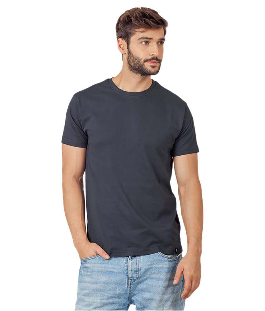 Bewakoof Grey Round T-Shirt