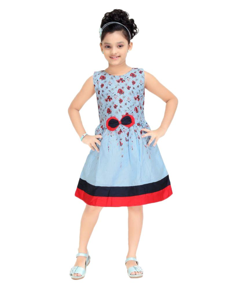 27f08fe95a Trendy Girls Sky Blue Colour Party Wear Frock - Buy Trendy Girls Sky Blue  Colour Party Wear Frock Online at Low Price - Snapdeal