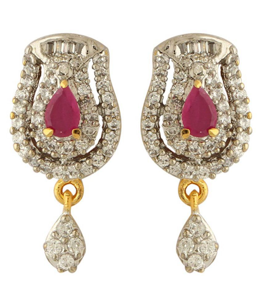 Voylla Golden Drop Earrings