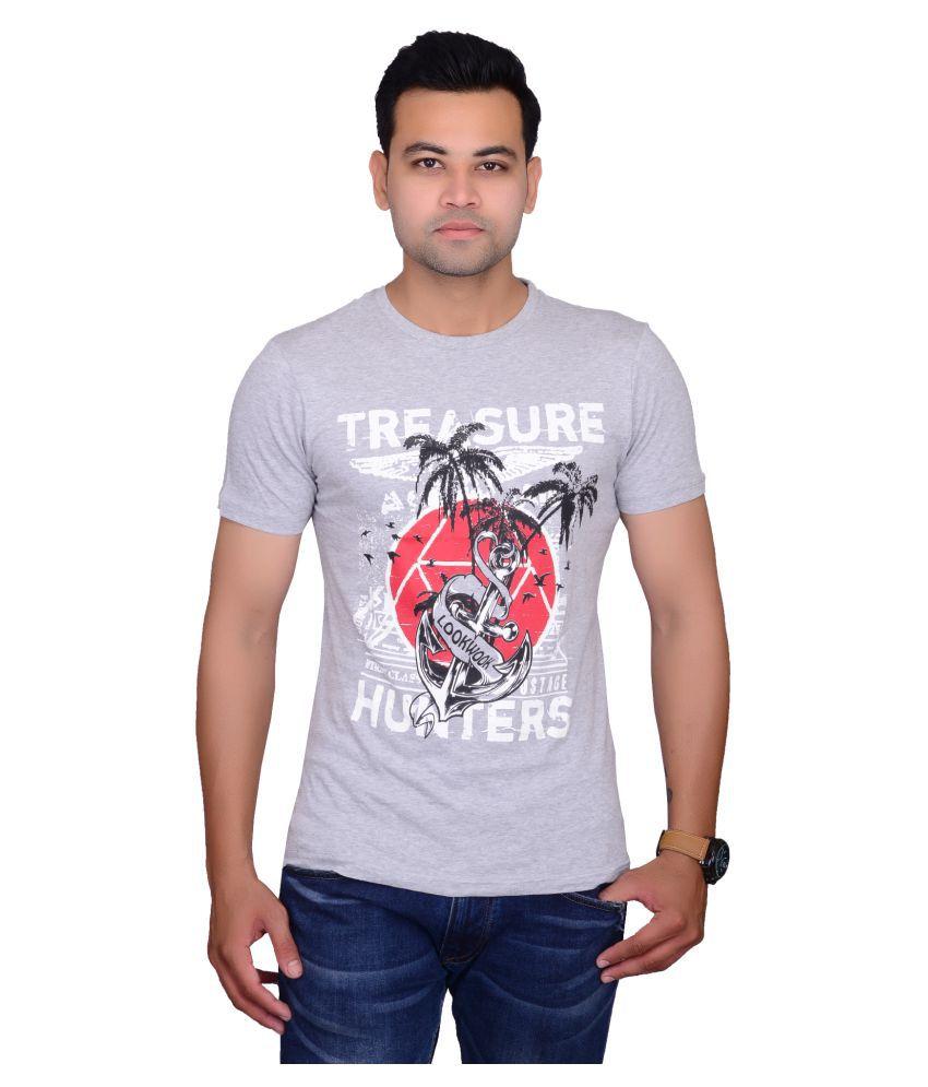 Lookwook Grey Round T-Shirt