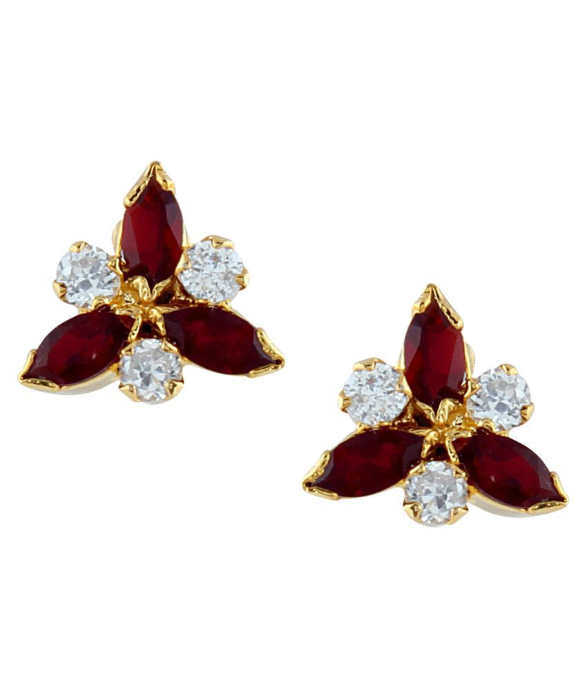 Parinaaz CZ Alloy Stud Earring for women