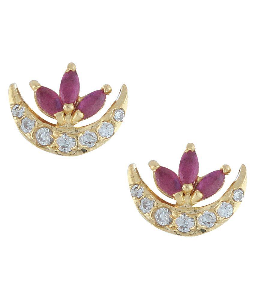 Parinaaz Pink Alloy Studs Earrings