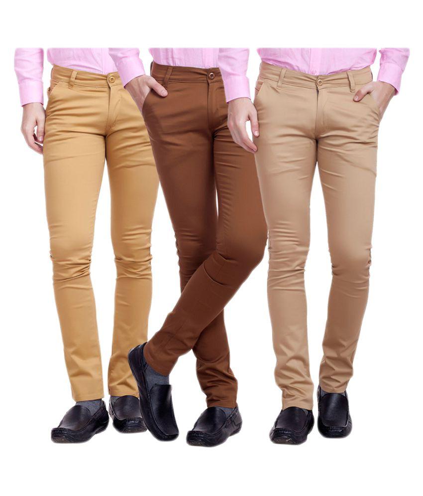 Nimegh Multicolored Slim Flat Chinos