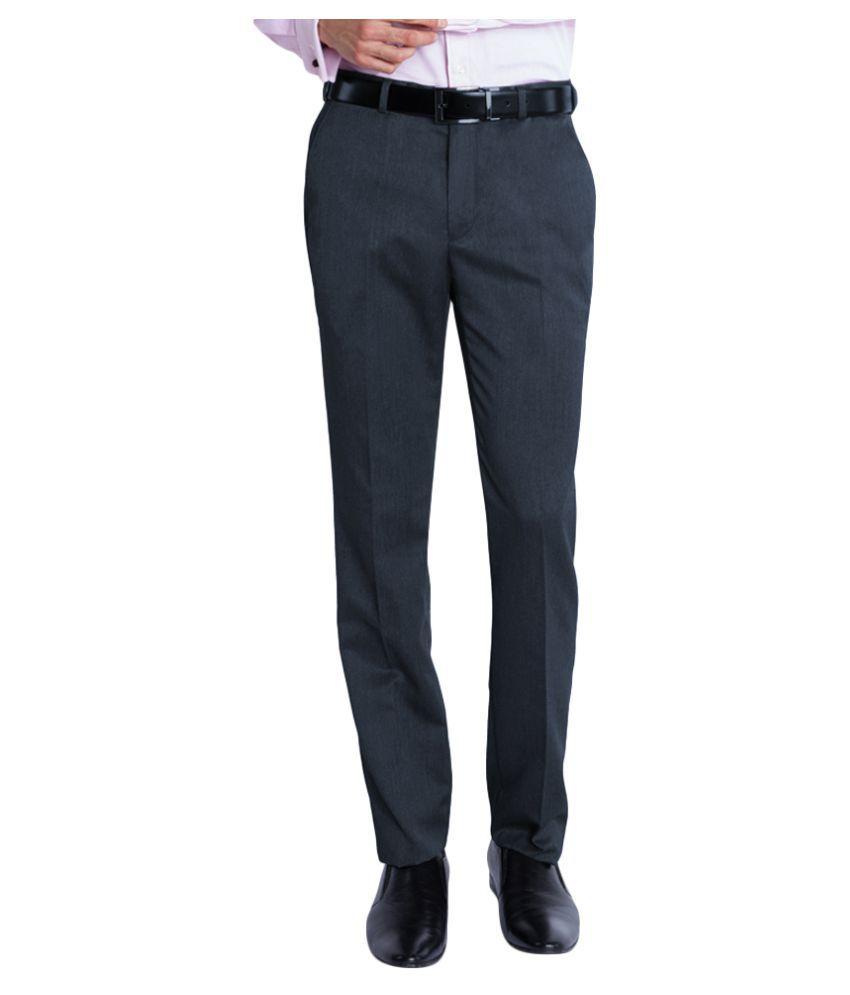 Park Avenue Dark Blue Super Skinny Flat Trousers