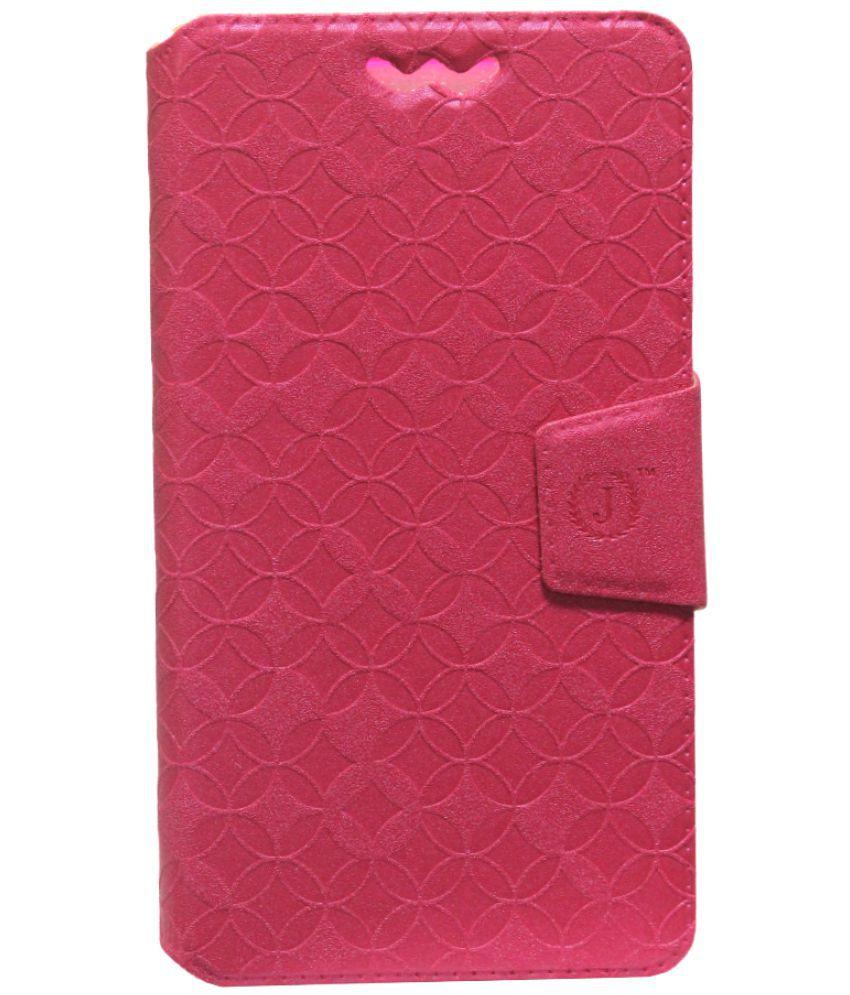 Panasonic Eluga I2 Flip Cover by Jojo - Red