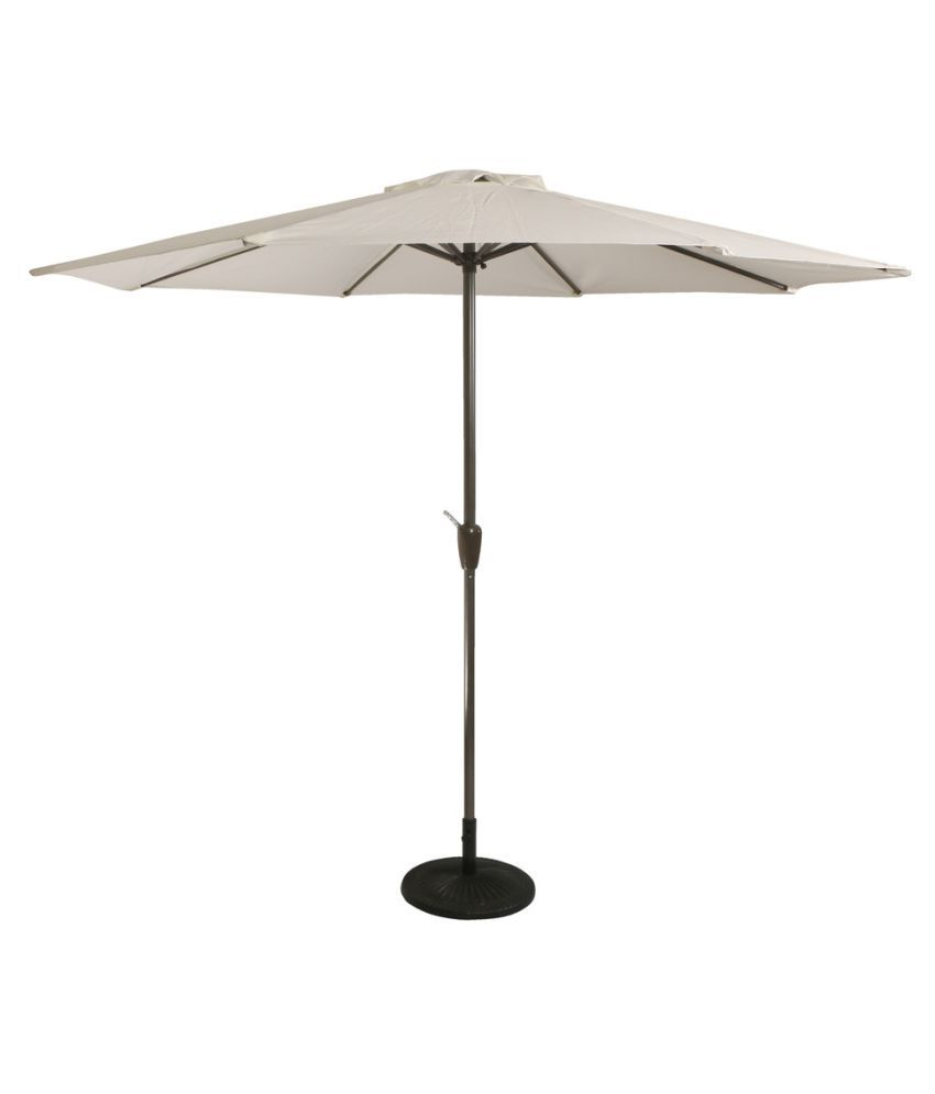 Luxury Center Pole Umbrella White