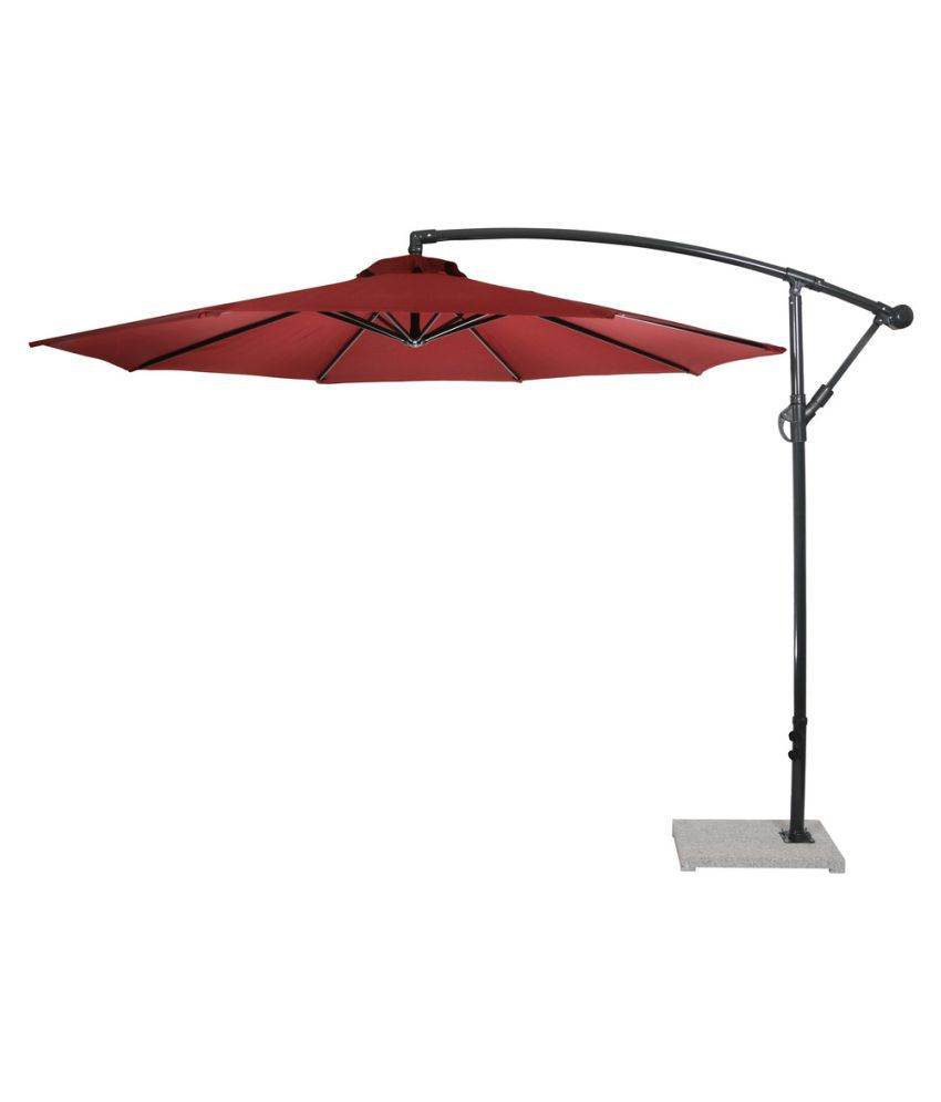 Luxury Side Pole Umbrella Maroon