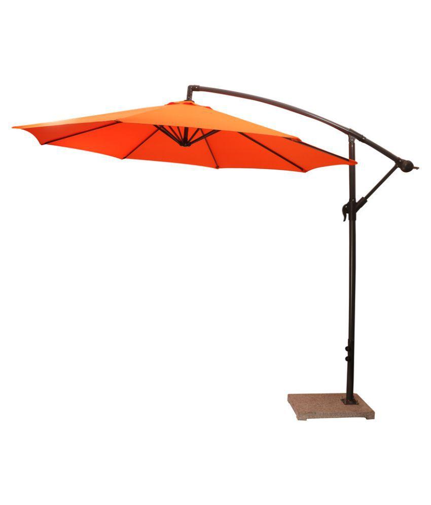 Luxury Side Pole Umbrella Orange Patio Umbrella Garden Umbrella