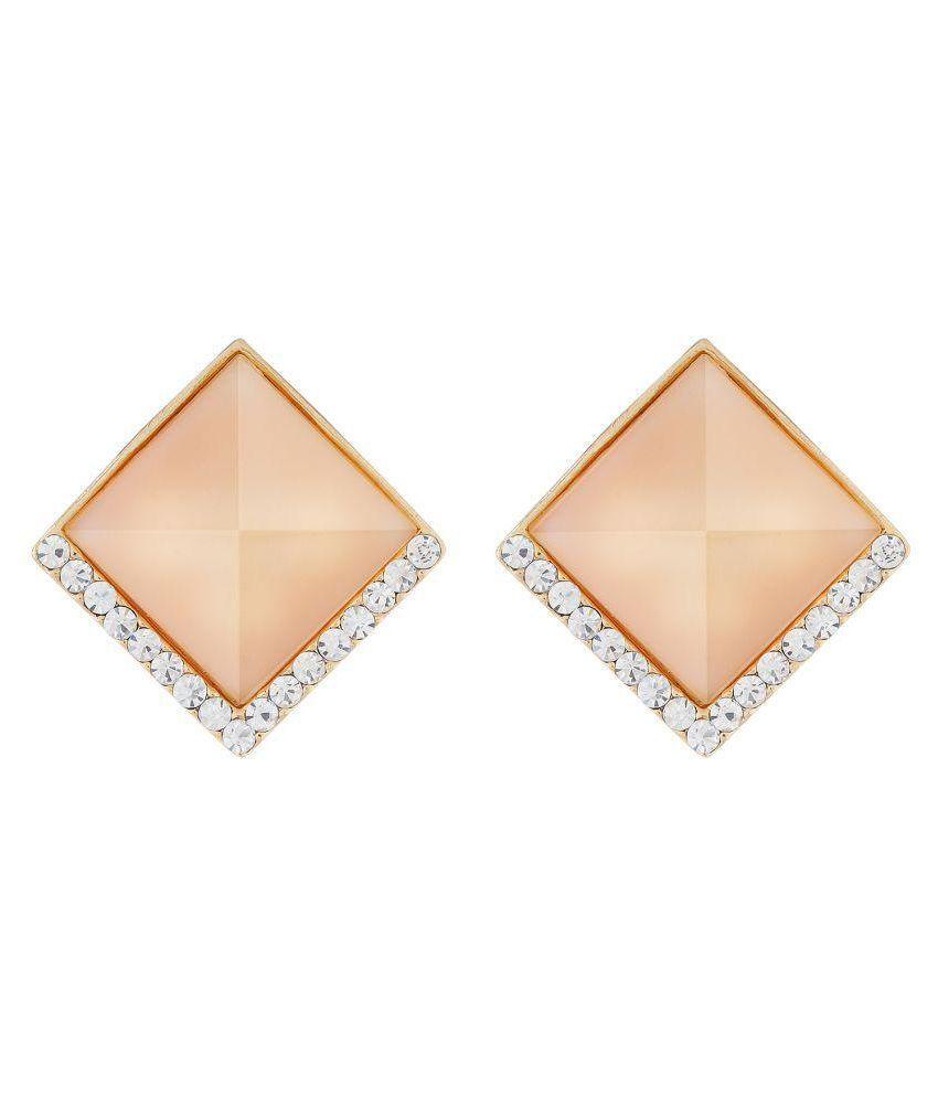 OSF Beige Alloy Stud Earrings