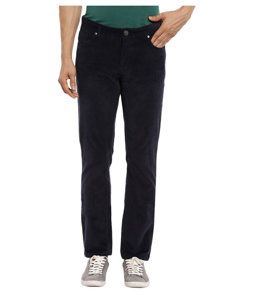 Colorplus Navy Blue Regular Flat Trousers