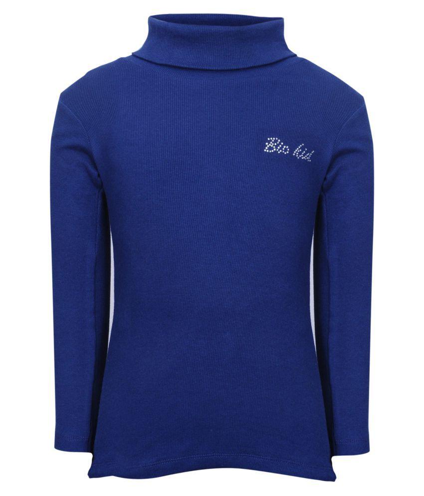 Bio Kid Blue Cotton Blended Sweatshirt