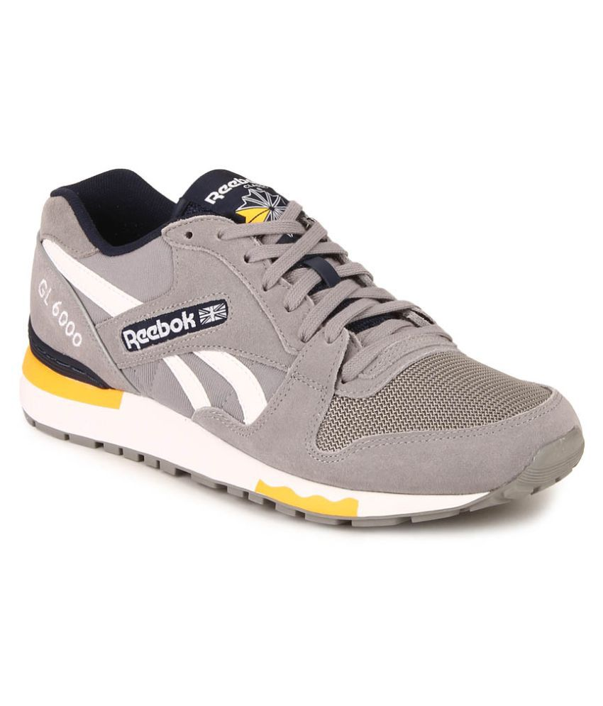 reebok gl 6000 pp gray running shoes available at snapdeal for. Black Bedroom Furniture Sets. Home Design Ideas