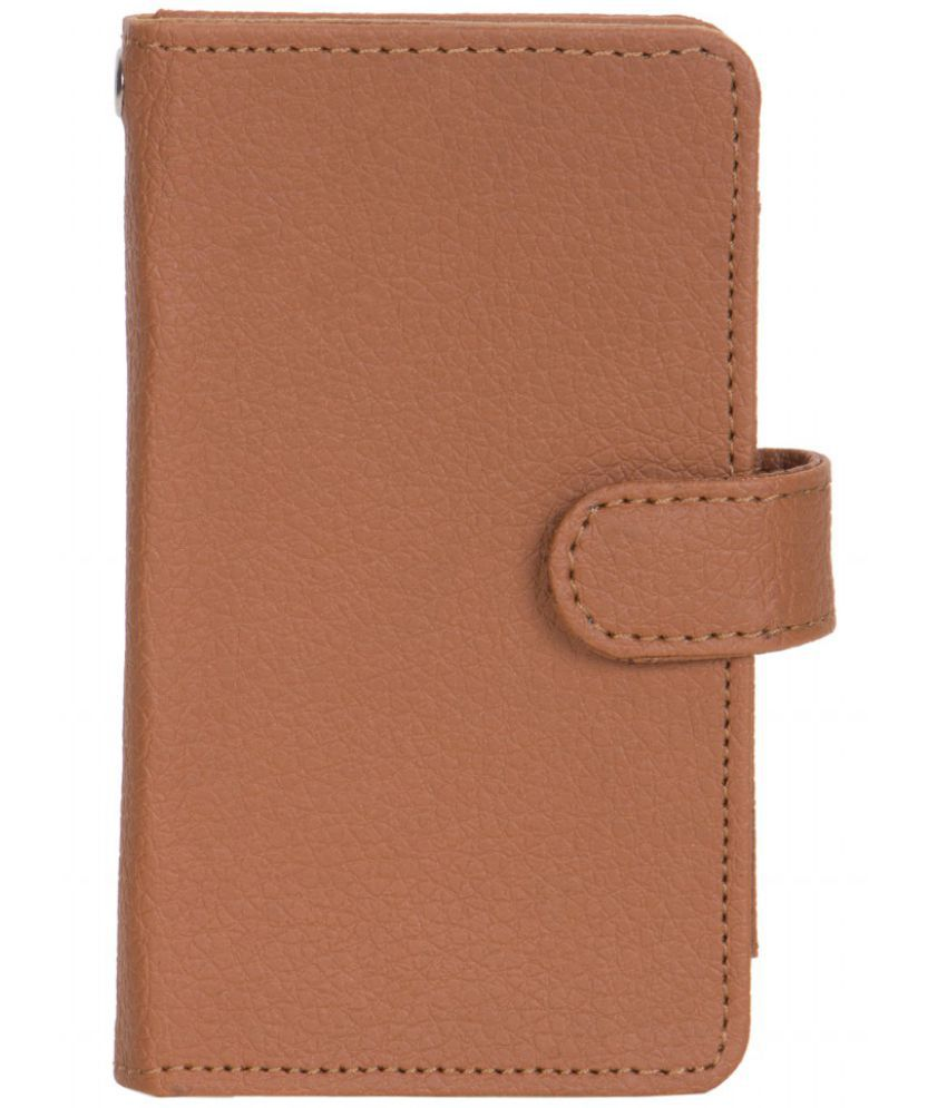Micromax Aisha A52 Holster Cover by Senzoni - Brown
