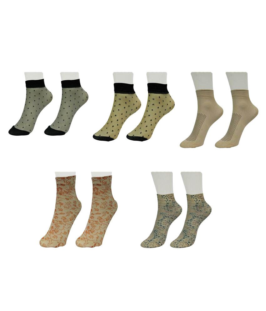 Gold Dust Multicolour Mid Length Socks - Pairs Of 5