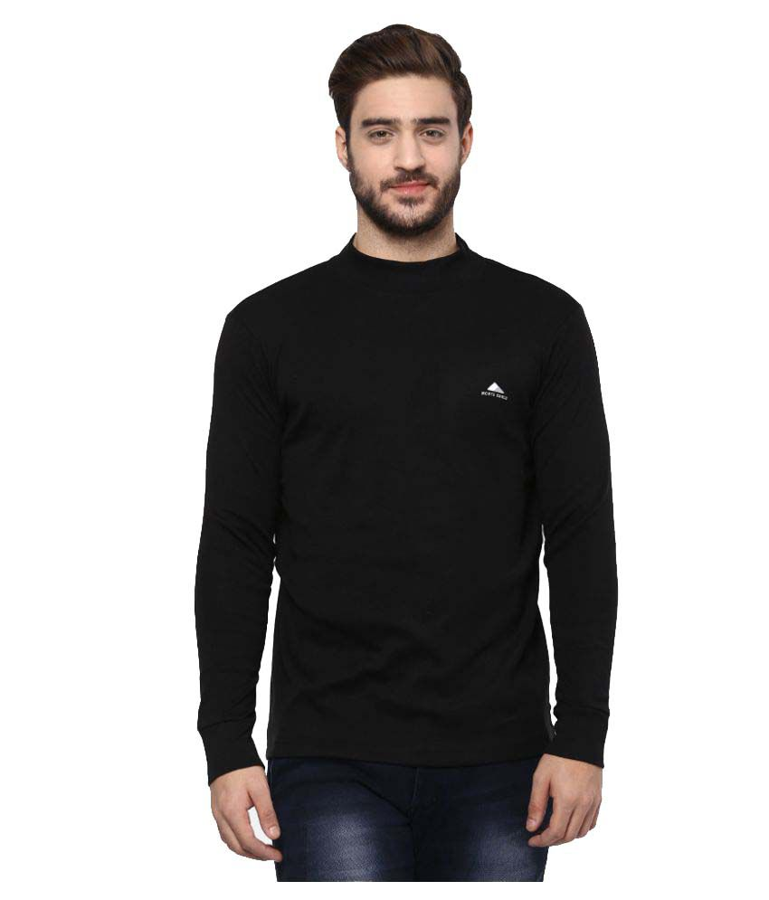 Monte Carlo Black High Neck T-Shirt
