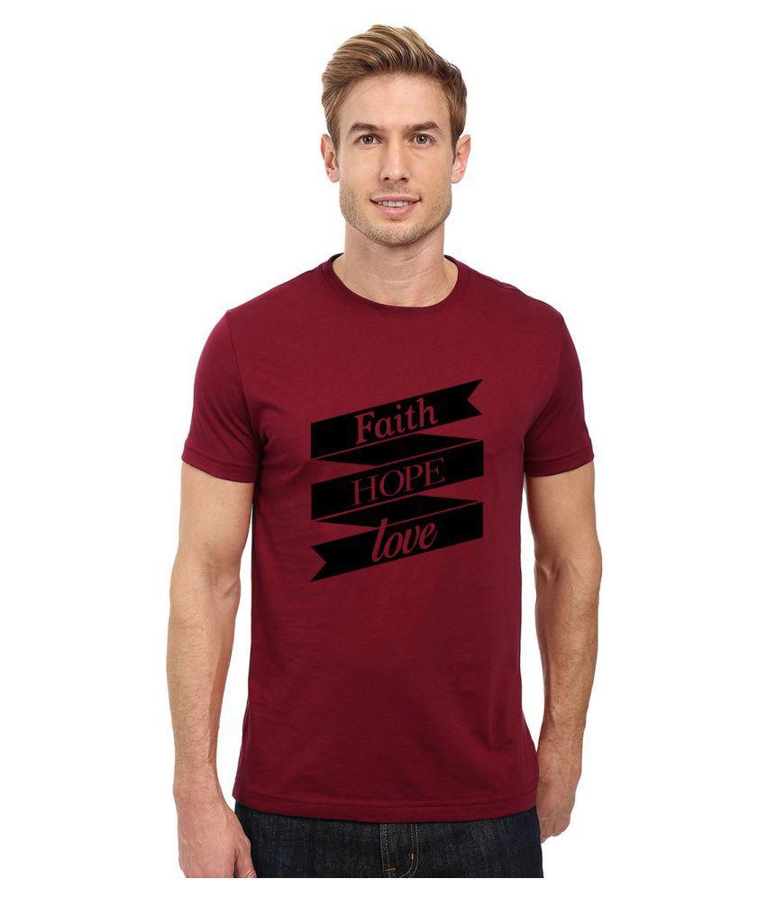 Redfool Fashions Maroon Round T-Shirt