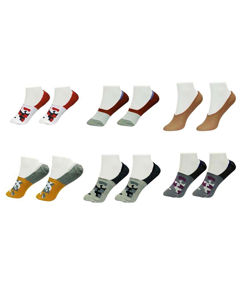Gold Dust Latest Fancy Footies Socks (6 Pair)