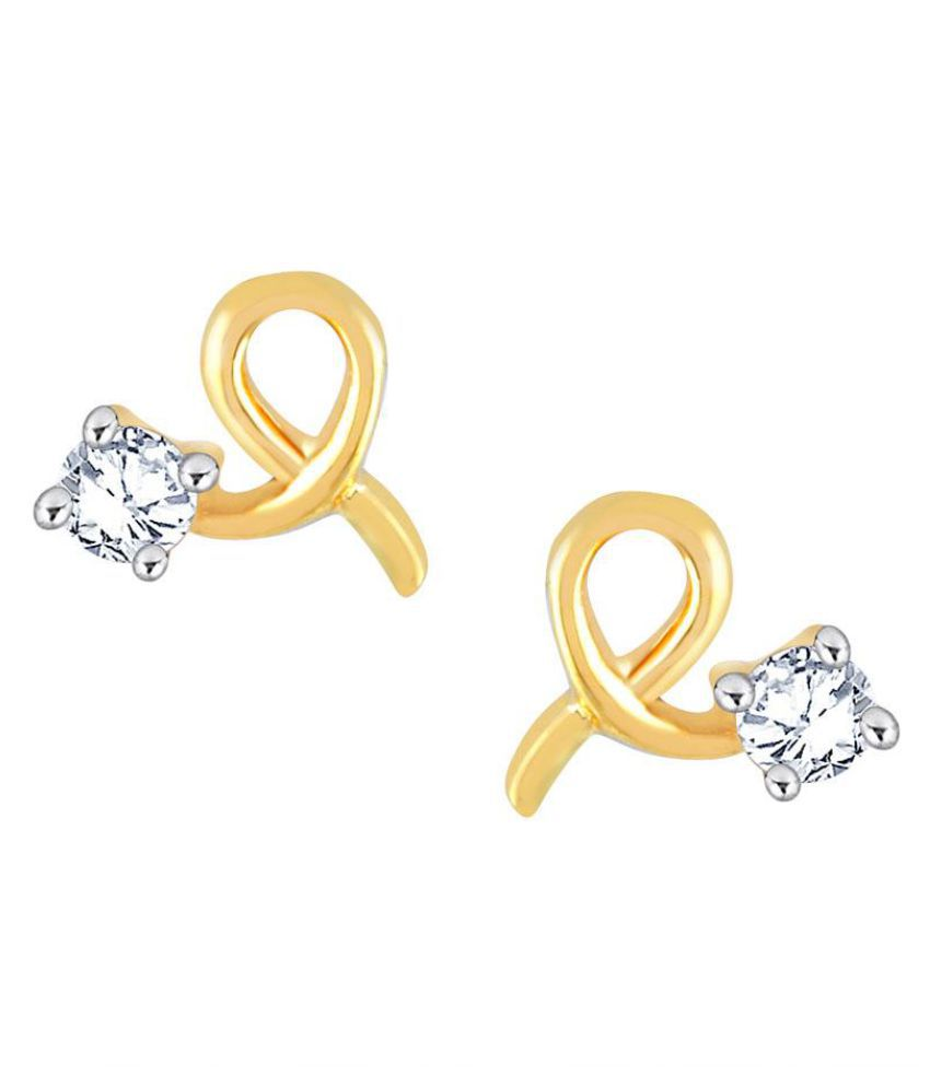 Me-Solitaire 18k Yellow Gold Diamond Studs