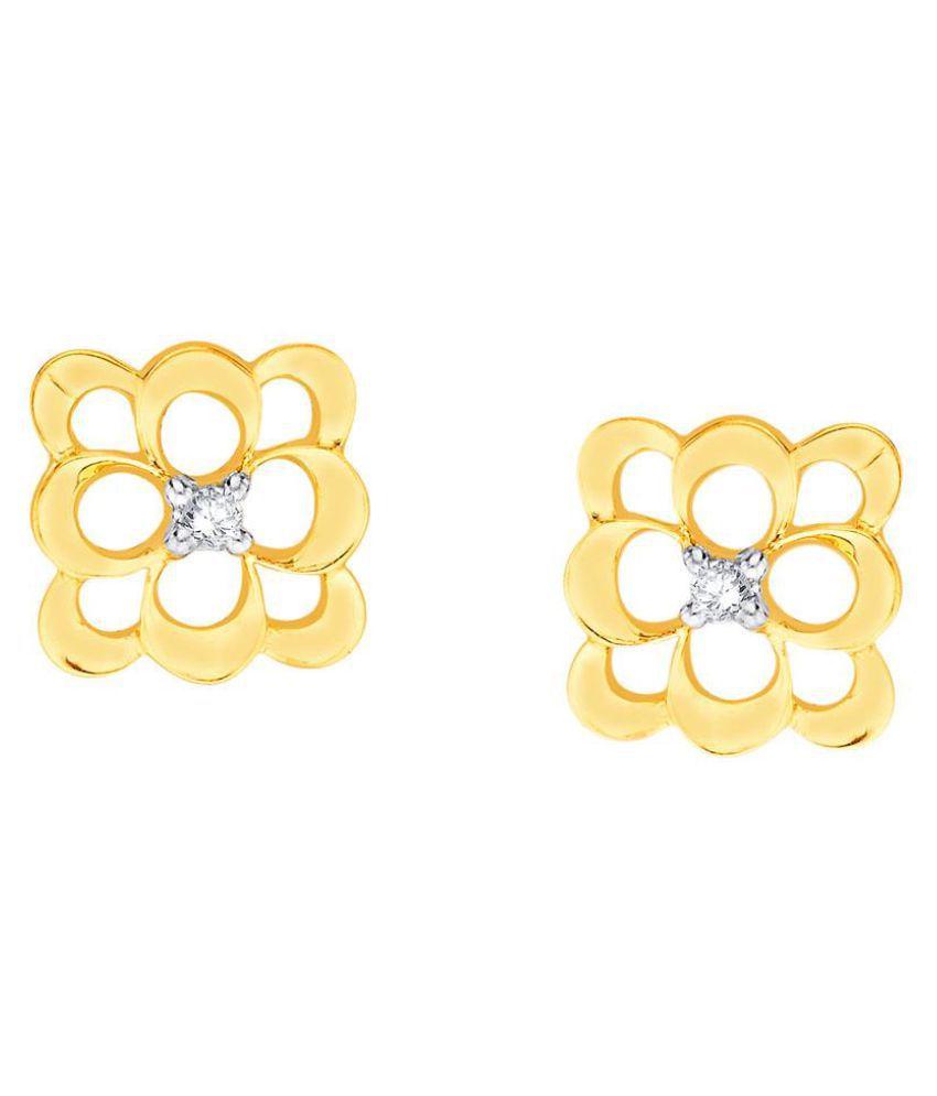 Nirvana 18k BIS Hallmarked Yellow Gold Diamond Studs