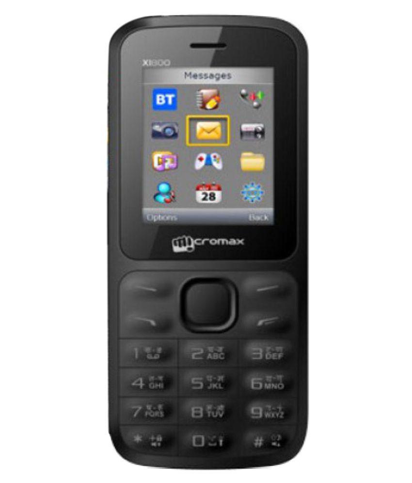 Micromax X1850 BLACK & ORANGE 128 MB Black