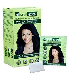New Moon Noni  Herbal Anti Graying Hair Shampoo Permanent Hair Color Black 15 Ml Pack Of 20