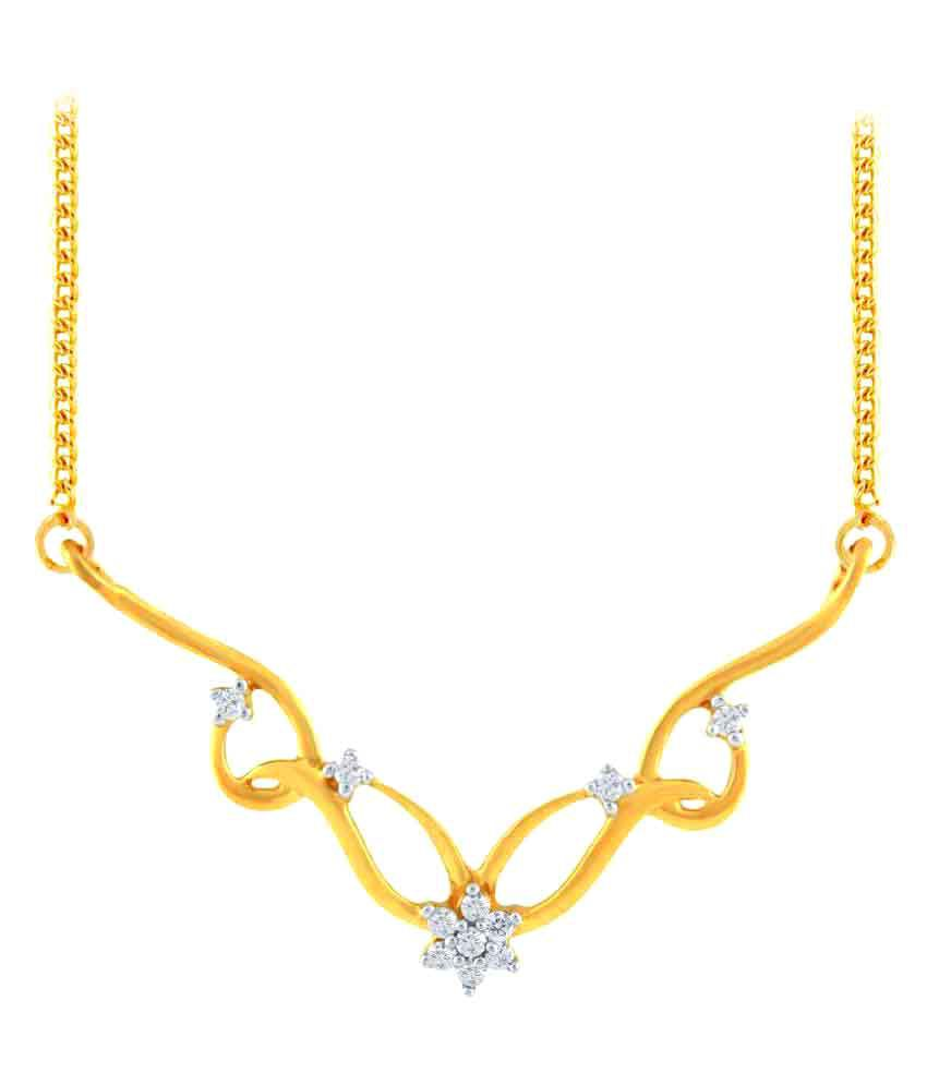 Asmi 18k Yellow Gold Diamond Mangalsutra