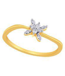 Asmi 18k Yellow Gold Diamond Ring - 623952766503