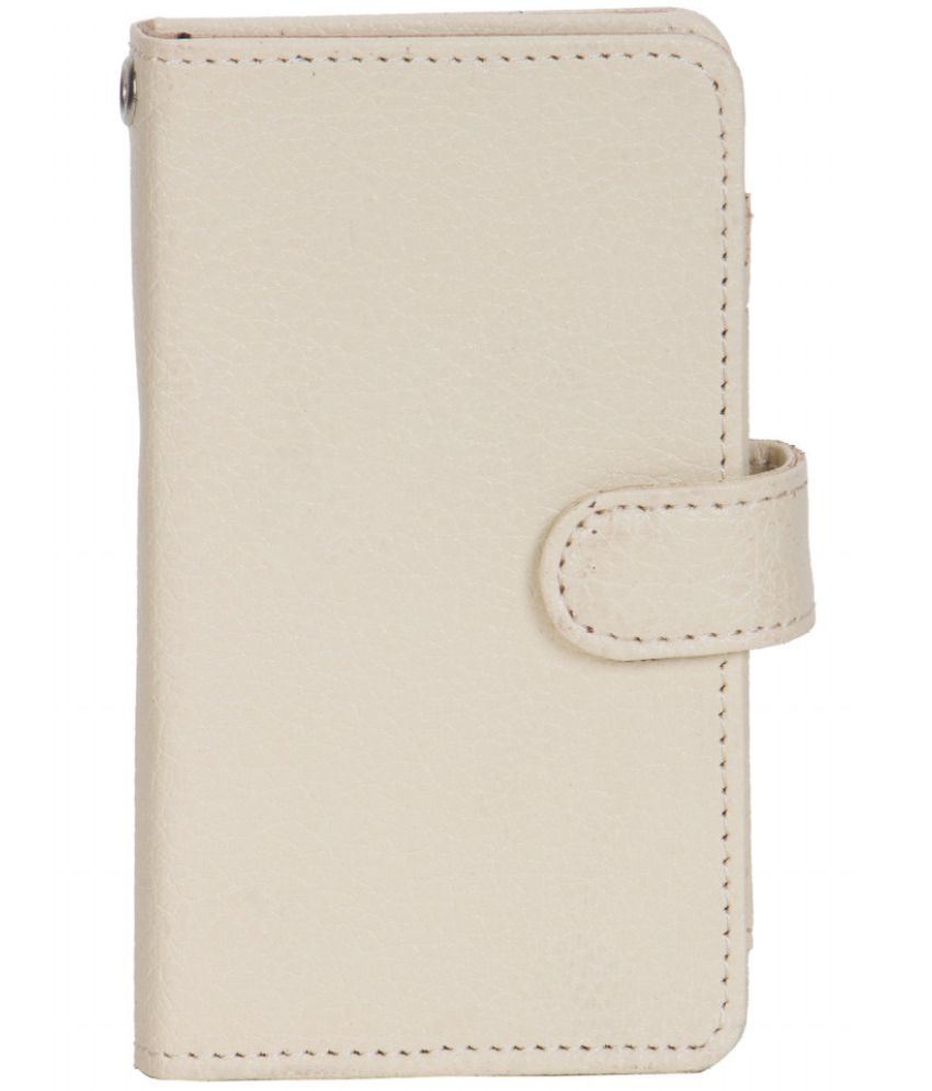 Micromax Bolt A065 Holster Cover by Senzoni - White