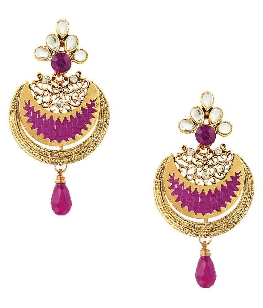 Shining Jewel Pink Chandelier Earrings
