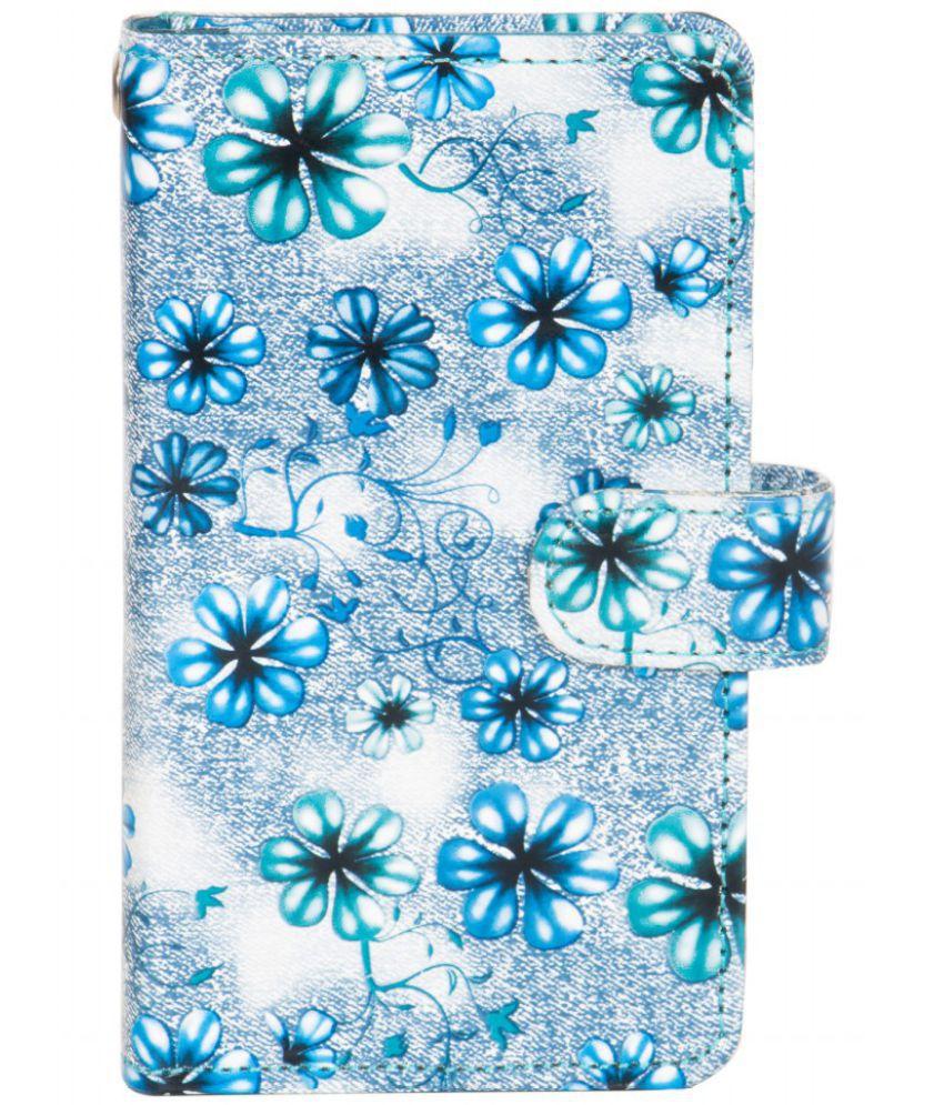 Intex Aqua Pro Holster Cover by Senzoni - Blue