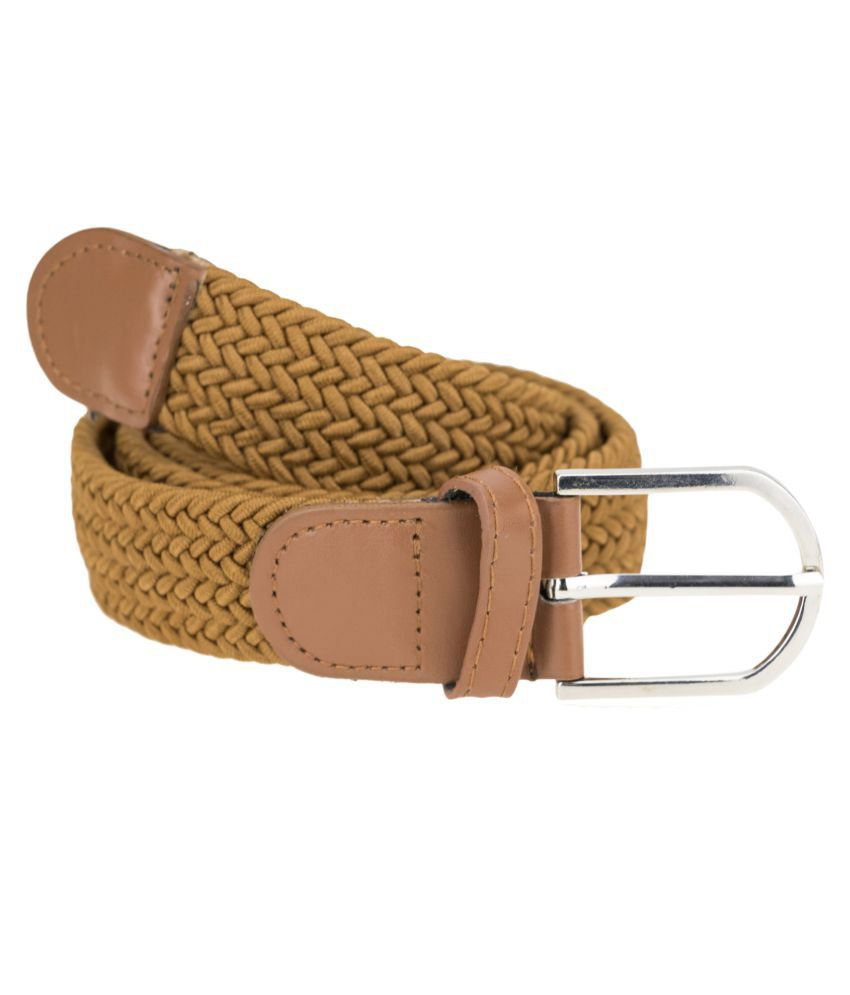 Genious Brown Canvas Casual Belts