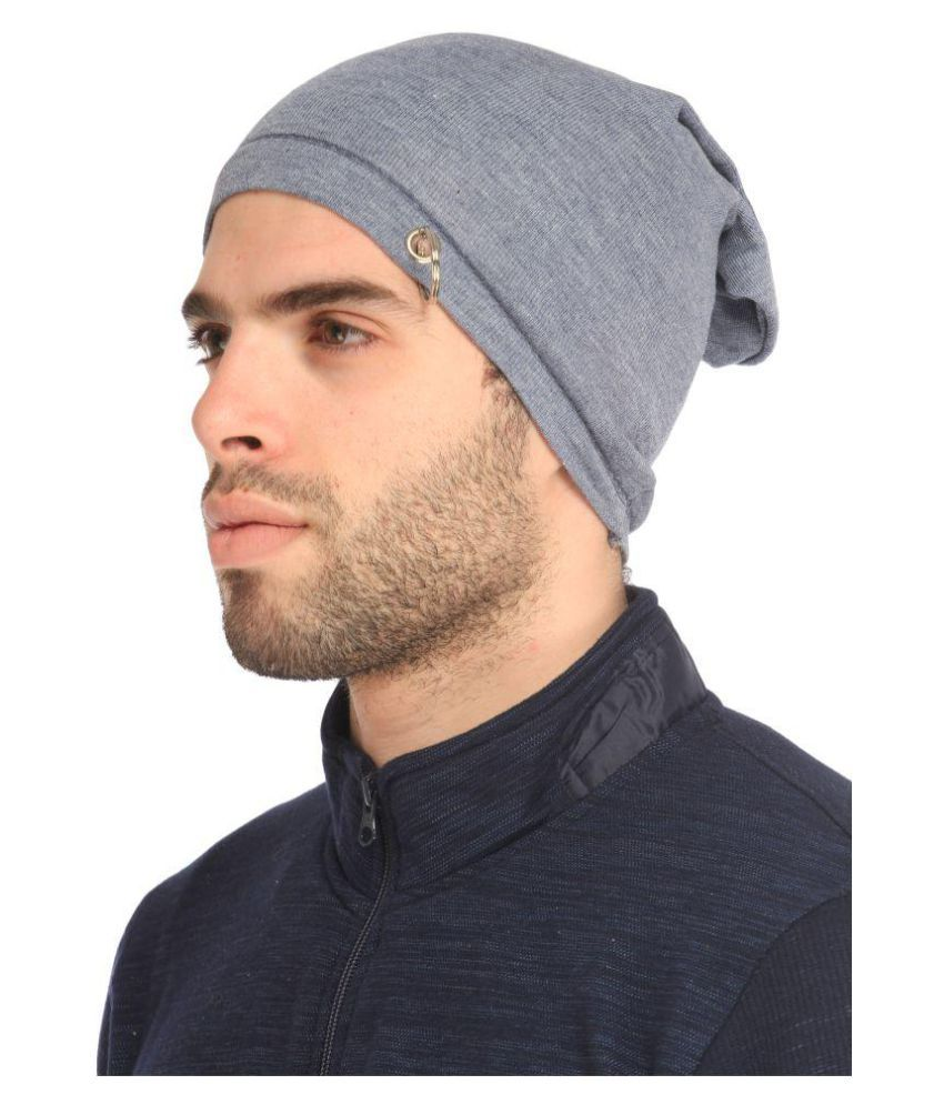 Gudluk Gray Knitted Wool Caps