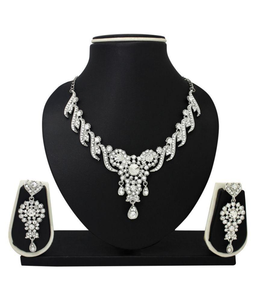 Atasi International White Necklace Set